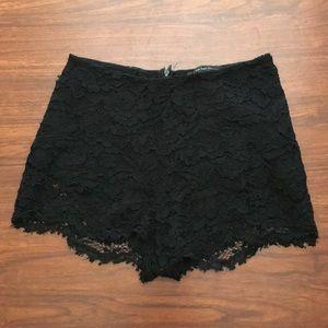 Zara Collection Black Lace Mini Shorts